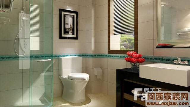 卫生间瓷砖装修效果图 卫生间