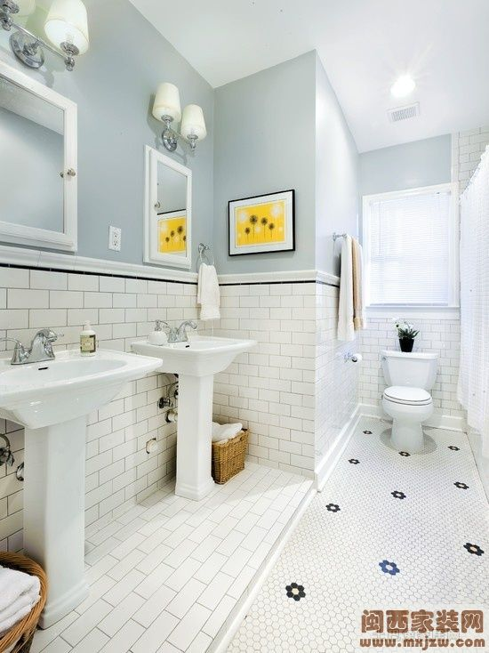 8�O简约卫生间瓷砖装修设计效果图