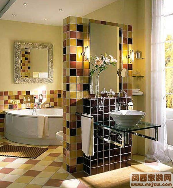 2013最新简约卫生间瓷砖装修效果图欣赏