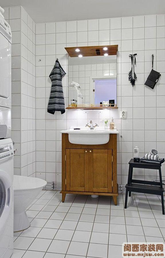 65�O小户型卫生间瓷砖装修效果图大全2012图片