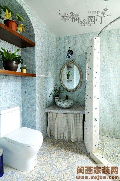 卫生间瓷砖装修效果图 卫生间隔断效果图