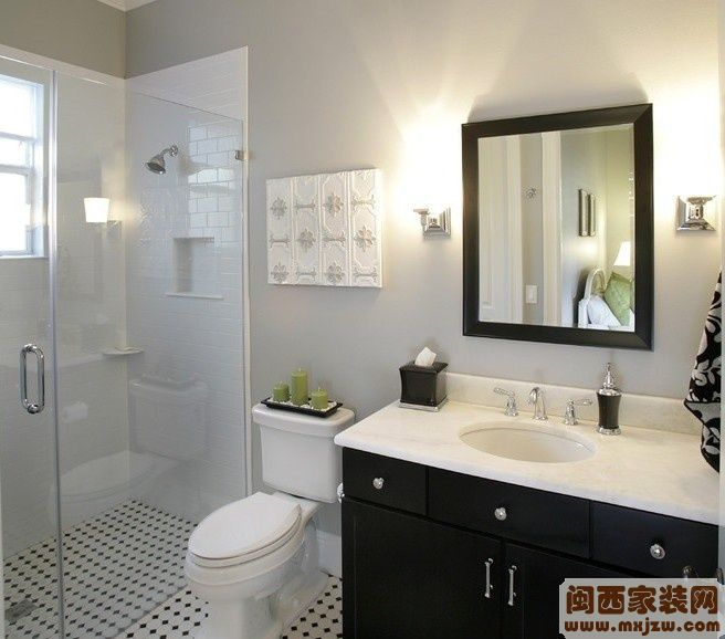 现代小面积卫生间装修效果图