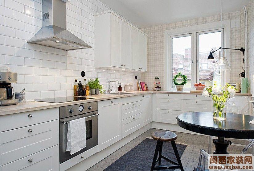 厨房瓷砖效果图 2012最新厨房装修效果图