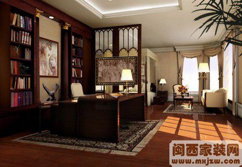 开放式书房装修案例,开放式书房的搭配设计