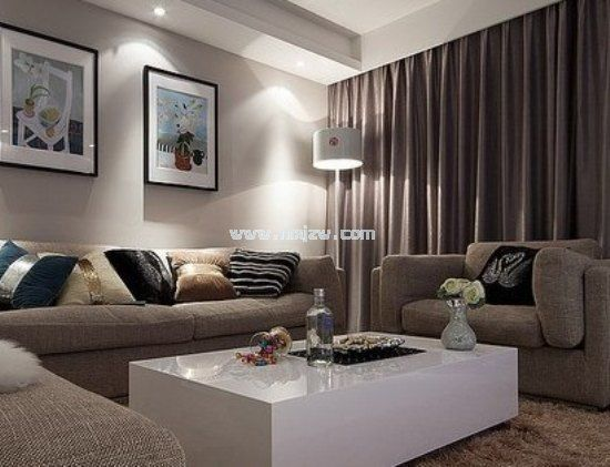 钟爱咖啡色 120平米现代都市单身公寓
