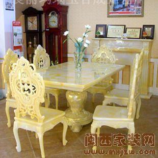 玉石西餐桌