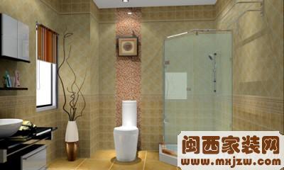 武汉百旺居装饰武汉装修卫生间设计效果图2
