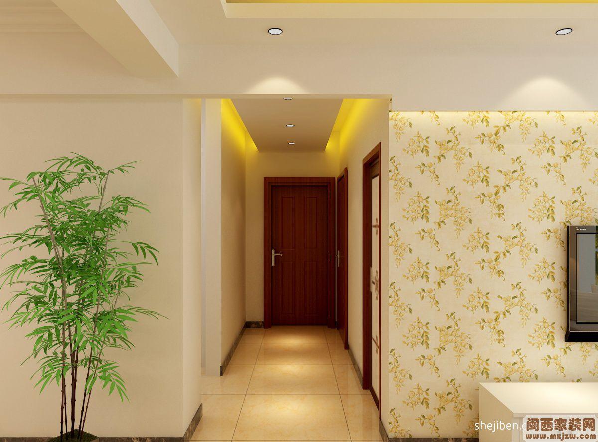进门玄关装修效果图 走廊玄关装修效果图