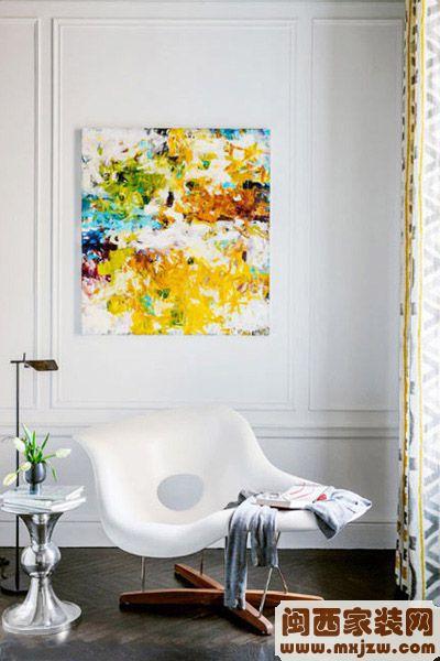 闽西星来利装饰现代装饰画客厅装饰画效果图4