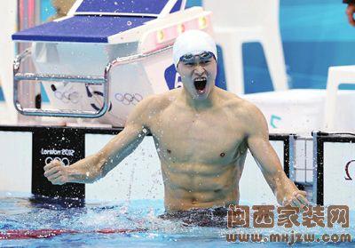 2012年伦敦奥运会 孙杨夺冠后难掩激动之情